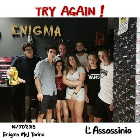 """Enigma Mr. J Escape Room: TRY AGAIN! della stanza """"L'ASSASSINIO""""!"""