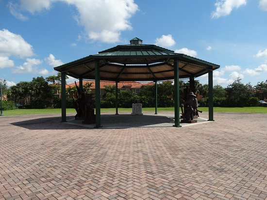 Pembroke Pines 911 Memorial - Pavilion with the Sculptures