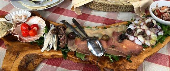 Milna, Chorwacja: Seafood appetizer