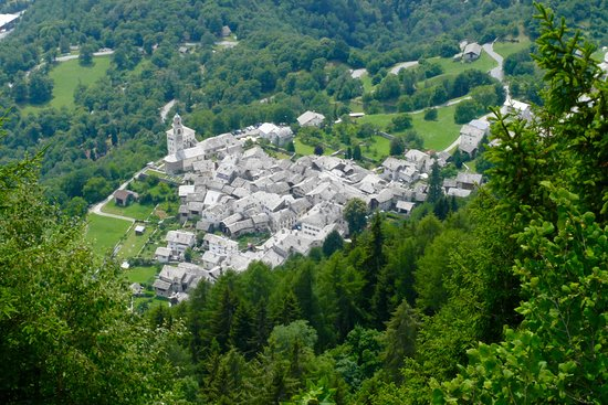 View of Soglio from above