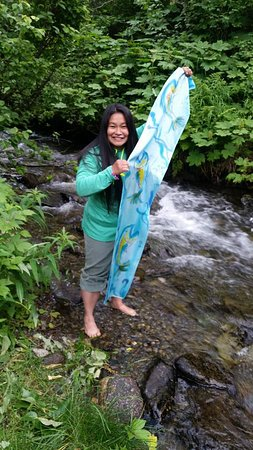 Chugiak, AK: the experience wont be complete without dipping my feet in the creek water...brrrr