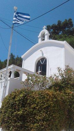 Kini, Greece: Ekklisia Agios Petros from the outside