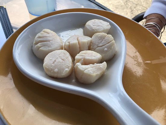 "Island Pond, VT: ""broiled"" scallops - asked them to then fry them - they cheerfully did!"