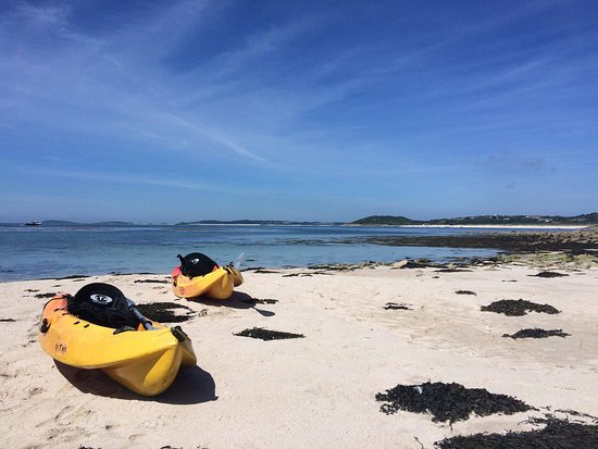 Kayaks on St Martin's