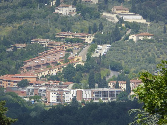 Museo Civico Archeologico: View from the museum northwards into modern suburbs.
