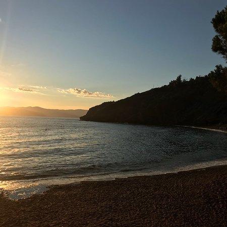 Tramonto sulla spiaggia dell'Innamorata