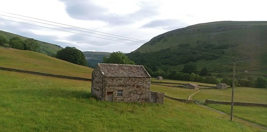 North Yorkshire, UK: Lush and lovely Swaledale, as seen from our B&B.