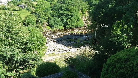 North Yorkshire, UK: The falls of the River Swale in Richmond. A great place to unwind on an off day.