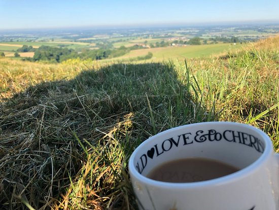 Malton, UK: Coffee and a wonderful view to start the day