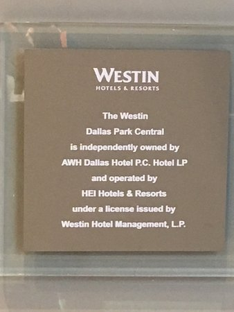 The Westin Dallas Park Central: HEI operated