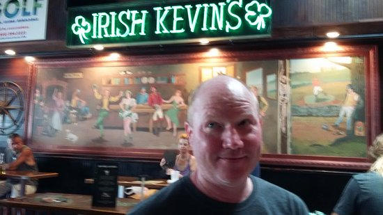 Of Course They Have A Neon Sign And A Mural Picture Of Irish