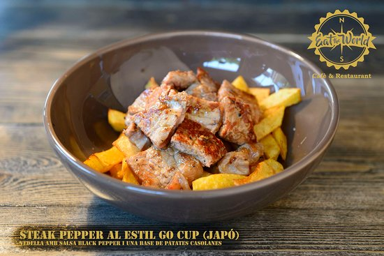 Mollerussa, Espanha: Steak Pepper