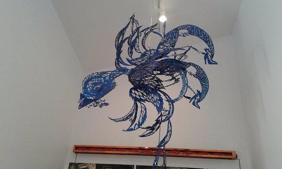 Vernon, Canada: a hanging sculpture