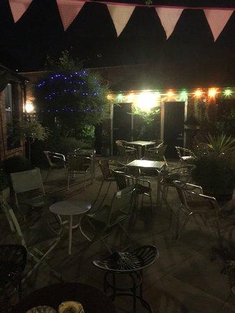 Shepshed, UK: Rear Garden at Night