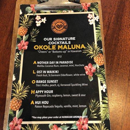 ハワイアン・アロマカフェ  Waikiki Beachcomber by Outrigger店, ハワイアン・アロマカフェ