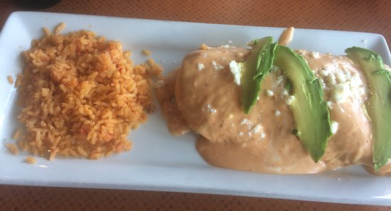 Van Alstyne, TX: pork burrito with chipotle sauce