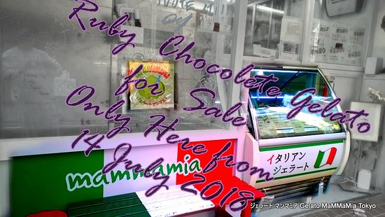 Gelato Mamamia: The World's First Ruby Chocolate the first gelato shop! for sale only At Mammamia.!!! #gelatorub