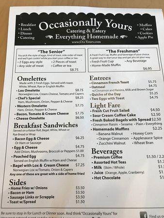 Swarthmore, PA: The menu!!!