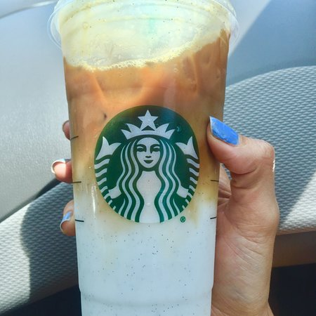 Iced Vanilla Bean Coconut Milk Latte Picture Of Starbucks
