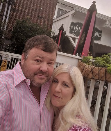 Bourbon Street Grille: Anniversary picture from outside the back entrance