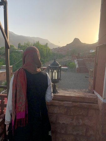 Abyaneh, อิหร่าน: Sunset from the terrace