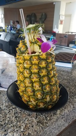 Pineapple Drink From The Bar By The Pool Picture Of