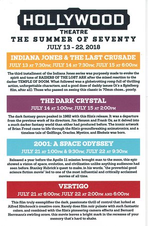 Hollywood Theatre Discriptions Of The July 2018 70mm Summer Films