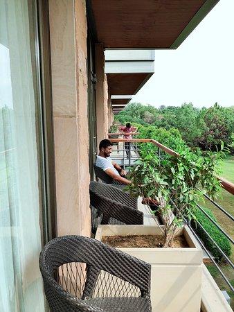 The Gateway Resort Damdama Lake Gurgaon: Sit Out at First Floor Room