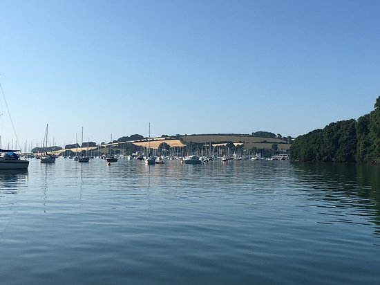 Mylor Churchtown, UK: View from the water from the north of Mylor Yacht Harbour