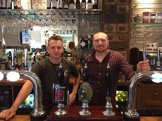 Nat, Pub Manager, and Alexander behind the bar - Picture of The ...