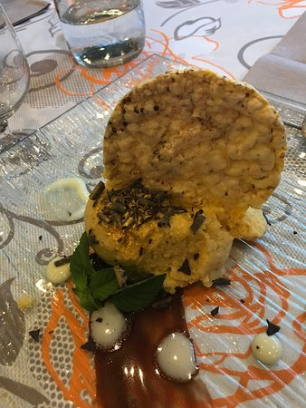 Storo, Italy: Mousse di polenta