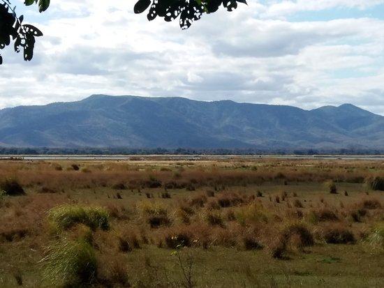 Mana Pools National Park, Zimbabwe: The view of the Zambezi and Zambia