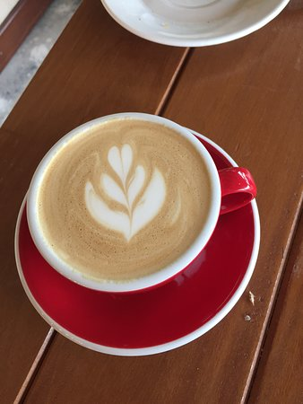 Pedra Azul, ES: Cappuccino preparado pelo Vagner