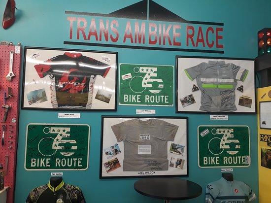Newton, KS: Mural da Trans America Bike Race