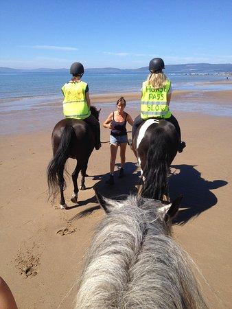 Blackwaterfoot, UK: geführtes Reiten am Strand