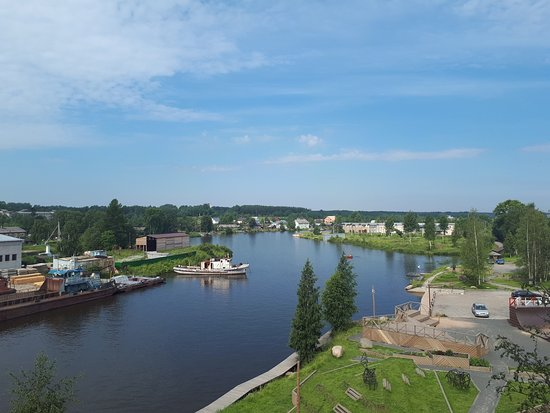 Vytegra, Rússia: вид с площадки