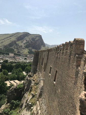 Khorramabad, Iran: The Outer Wall of Falak-ol-Aflak Castle