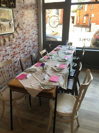 Sileby, UK: Table settings