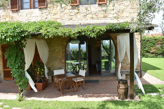 Vico D'elsa, Italien: Private outdoor veranda