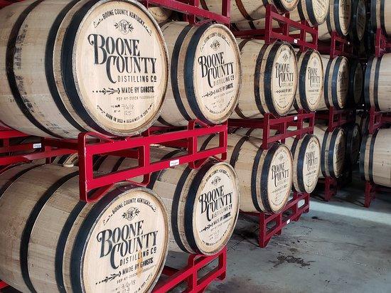 Independence, KY: Aging barrels