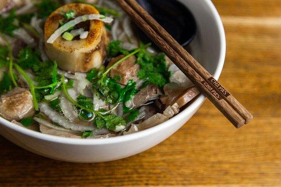 Phonomenon Bone Marrow Pho Picture Of Cha Pa S Noodles Grill New York City Tripadvisor
