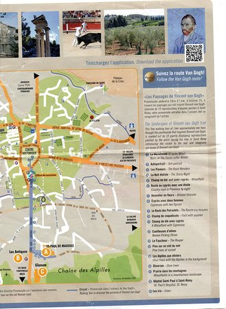 st remy france map St Remy Van Gogh Walk Map Current As At May 2018 P4 Picture