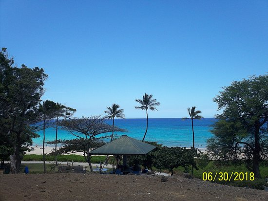 Hapuna Beach State Recreation Area Park From Top Of Hill