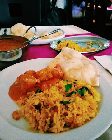 India Gate: Chicken Tikka Masala & Mango Basmati Rice with Butter Naan