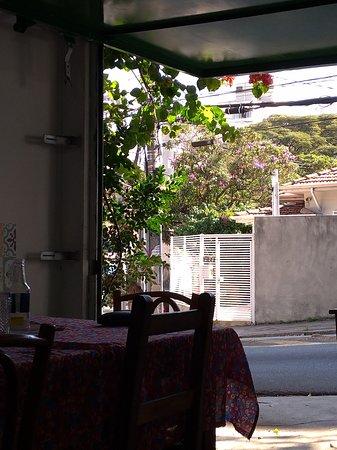 Sumare: vista de dentro do restaurante
