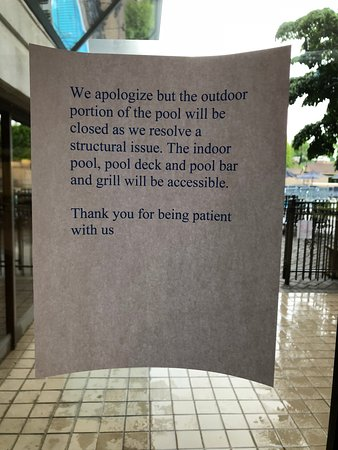 Rye Brook, NY: The outdoor pool has been closed for months.