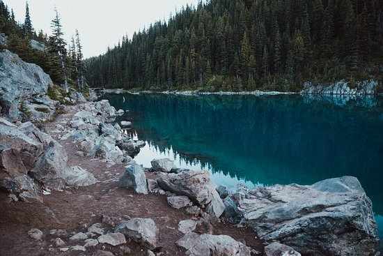 Brackendale, Canada: the blue water of Garibaldi