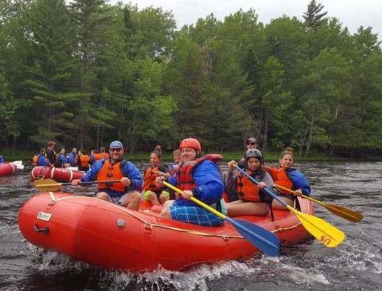 West Forks, ME: Great experience with best White Water Rafting Co . in Maine