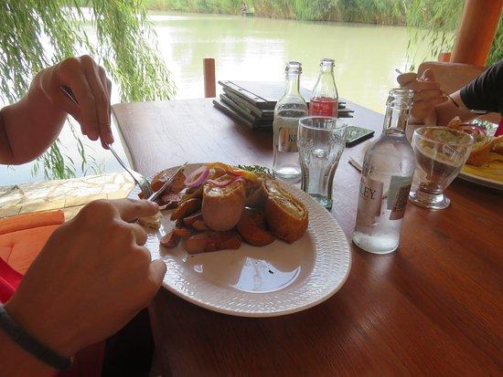 Akaszto, Hungary: Delicious stuffed pork chop dish.