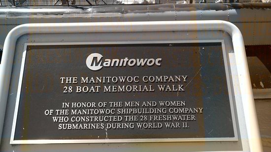 Wisconsin Maritime Museum: First plaque describing the submarines